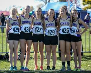 winner girls team at state cross co