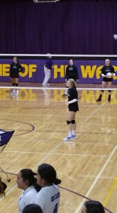 Region 7A Championship volleybl warm up