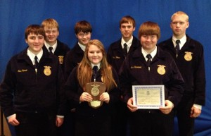 group photo of ffa winners