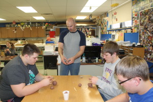 ned day working with clay and whs students