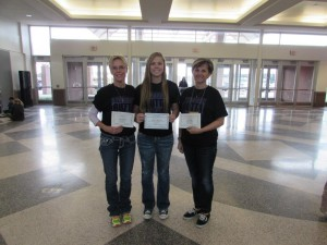 state student council awards bailey, mona and lorna