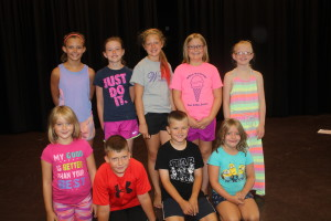 cast of children play