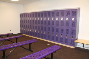 new girls lockers in aux gym