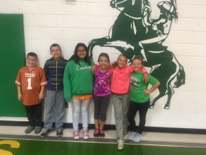 colome studets with essay contest story and clips